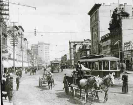 Looking North on Main St,early 1900's